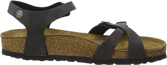 Birkenstock Kumba, Women's Ankle-Strap Ankle Strap Sandals, Black (Nubuck Brushed Black Nubuck Brushed Black), 3.5 UK (36 EU)