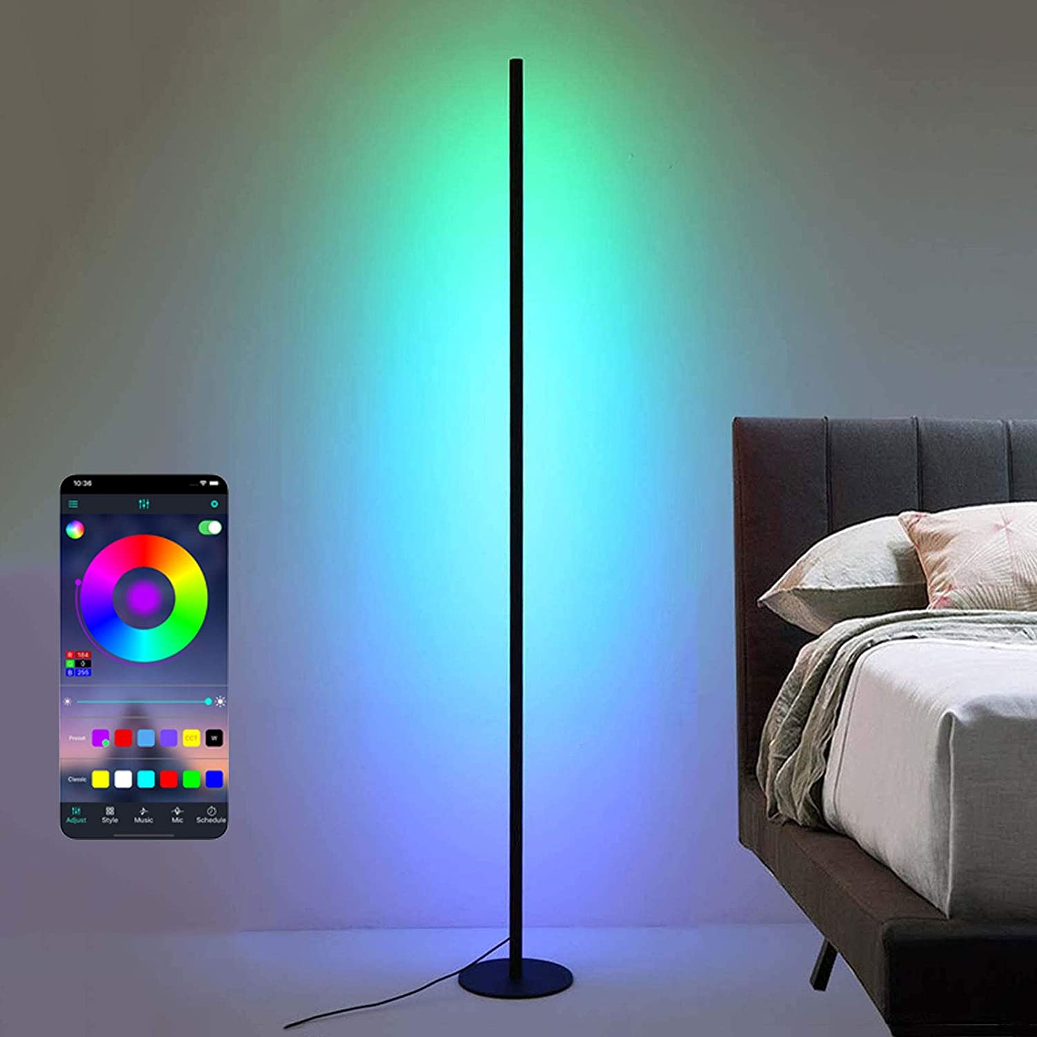 RGB Color Changing Genuine Standing Very popular Corner Floo Smart Lamp Dimmable LED