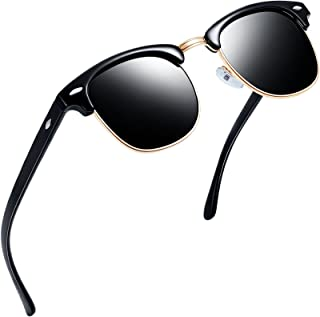 Semi Rimless Polarized Sunglasses Women Men Retro Brand Sun Glasses