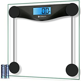 Etekcity Digital Body Weight Bathroom Scale, Large Blue LCD Backlight Display, High Precision Measurements, 6mm Tempered G...