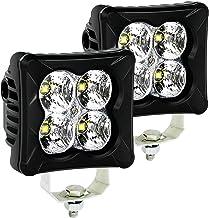 LED Pods Flood Light Bar - 4WDKING 2PCS 40W LED Off Road Work Light Truck Fog Lamp Tail Light IP69K Waterproof ATV Cube Lights Compatible for Ford F150 Polaris RZR Jeep Wrangler