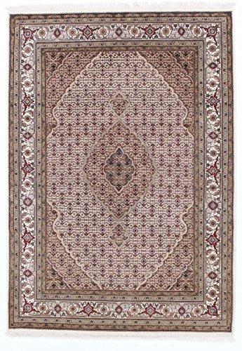 Indo Tabriz 242x172 Tapis Oriental Violet/Rose Noués à la Main Inde