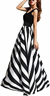 Women Chiffon Mopping Floor Length Big Hem Solid Beach High Waist Maxi Skirt