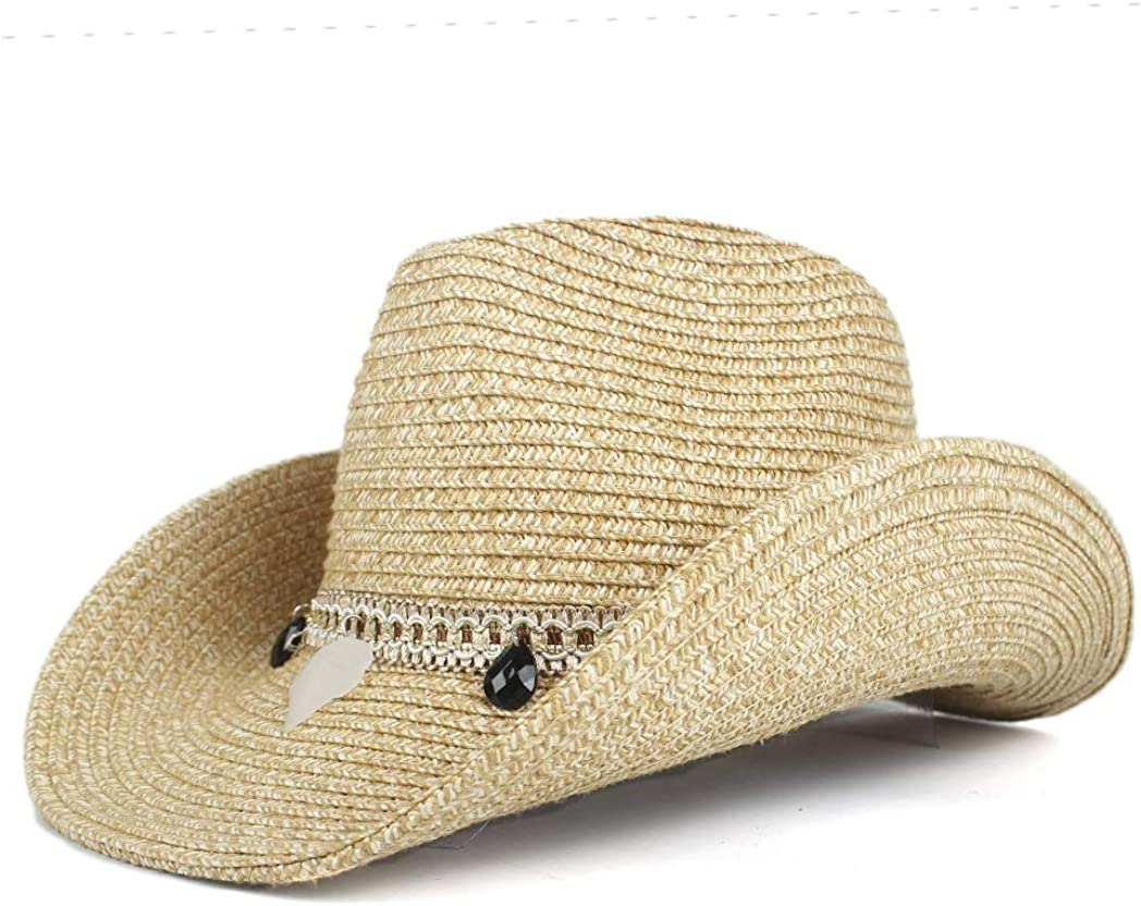 CNBEAU Summer Fashion Sun Hat Cowboy Topics on TV Straw Special Campaign Ball Decorate Travel