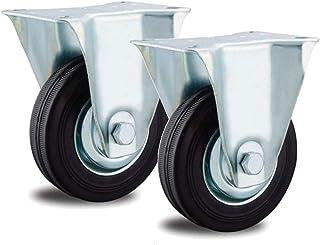 2 bokwielen 150 mm stalen velg volledig rubber tot 135 kg transportrol loopwielen industriële rol
