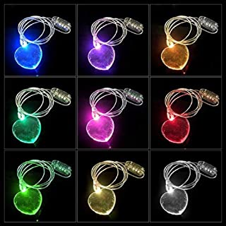 Mammoth Sales LED Light Up Color Changing Valentine's Day Heart Necklace