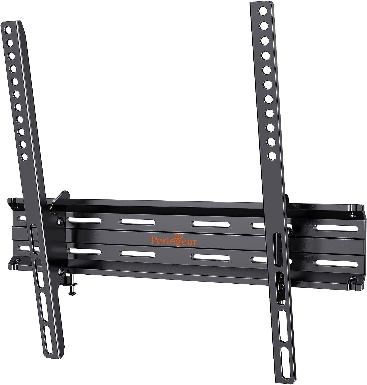 Perlegear TV Wall Bracket, Sturdy Tilt TV Wall Mount for 26-55 inch TVs with Loading 45kg, Max VESA 400X400mm