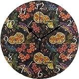 XXSCXXSC Reloj de Pared Dragonfly Lemon Mountain Ash Berries