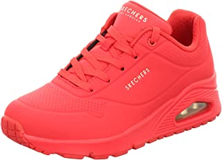 Skechers Women's UNO Stand ON AIR Trainers, Red (Red Durabuck Red), 3 (36 EU)