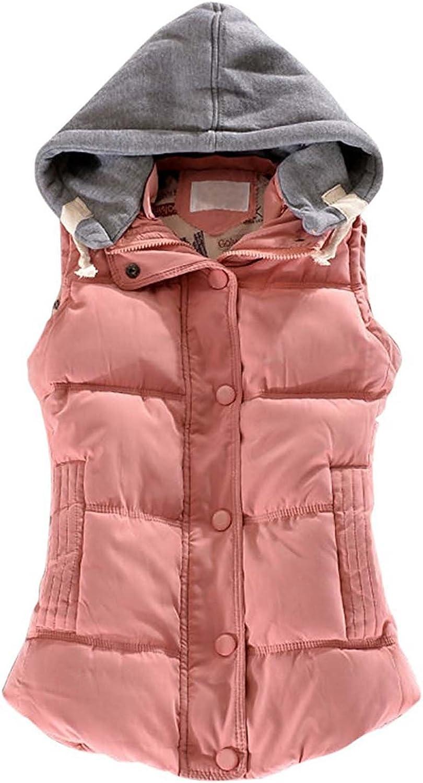 KRWHTS Women Packable Down Vest Outdoor Puffer Vest Pink