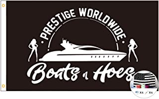 Prestige Worldwide Flag Boats & Hoes 3x5 Feet Banner,Funny Poster UV Resistance Fading & Durable Man Cave Wall Flag with B...