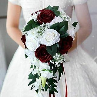 Boho bridal bouquet woodland bouquet artificial silk flowers eucalyptus off white ivory cream rustic wedding cascaade cascading bouquet