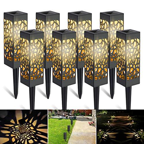 WEARXI 8 Pack Solarleuchten Garten - Solar Gartenleuchte IP65 Wasserdichte Garten Solarleuchten, Solarlampen für Außen Garten Deko, Draußen, Terrasse, Rasen, Hof, Balkon (Warmweiße)