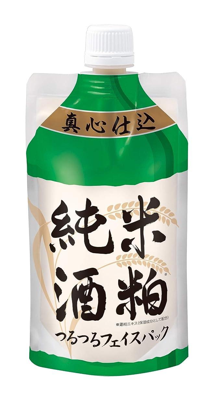 不正直塗抹アニメーション【酒粕パック】純米酒粕 つるつるフェイスパック 130g(洗い流すタイプ)