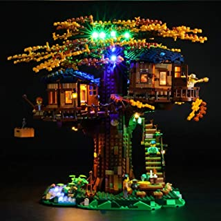 LED Lighting Kit,for (Tree House) Building Blocks Model -USB Powered LED Light Kit Compatible with Lego 21318 (NOT Include...