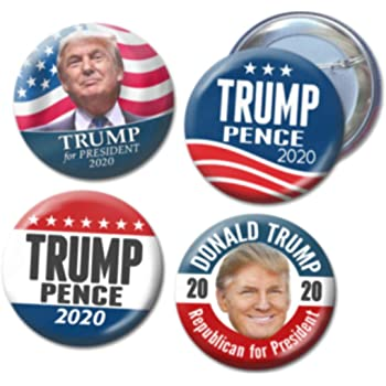 Multicolor style01 Branches/&tree One Piece Donald Trump for 2020 President Election Pin Donald Trump Pins and Buttons