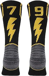 KitNSox - Calcetines de media pantorrilla para adultos, color dorado y negro