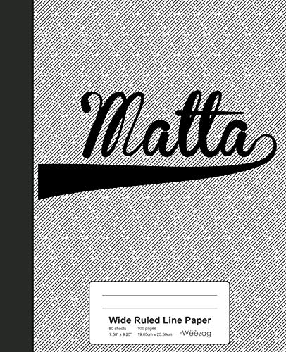 Wide Ruled Line Paper: MALTA Notebook (Weezag Wide Ruled Line Paper Notebook, Band 3280)