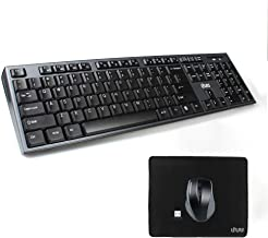 Black Wireless Mini Ultra Slim Keyboard and Mouse For Easy Smart TV Contol for Samsung 55MU6400 55 Smart TV