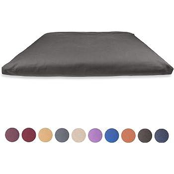 Yogakissen Sitzh/öhe 12 cm Sitzkissen Kissen gefullt mit buchweizen flocken Medatation Cushion Yamkas Meditationskissen Hanf