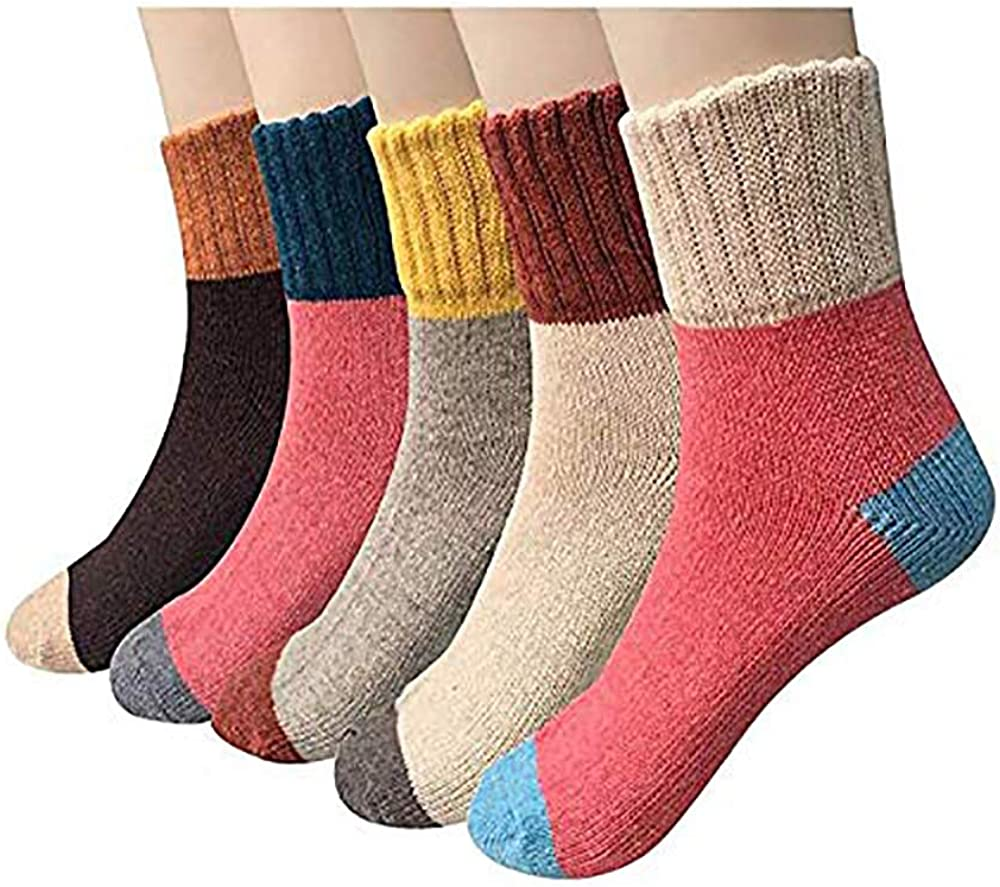 Pack of New products, world's highest quality popular! 5 Womens Winter Soft Thick Vintage Wool Warm Dallas Mall Casual Knit