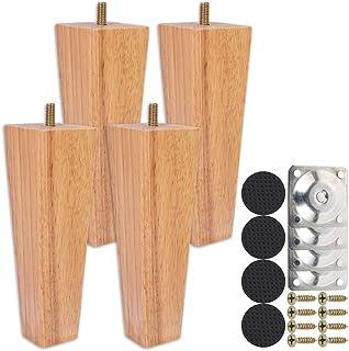 patas de mesa soportes cuadrados color blanco 40 x 52 mm RDEXP 4 patas de fieltro de acero al carbono para muebles