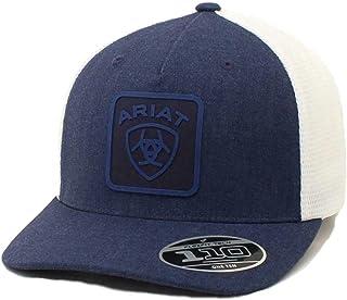 قبعة خلفية شبكية قابلة للتعديل من ARIAT 110 Flexfit من الخلف زرقاء