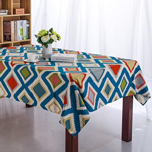 GFYWZ Linge de Table épaisse Bande Bleue carré Toile, 60 * 60