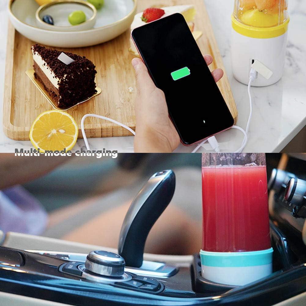 350ML Blender Portable Personnelle Juicer Pour Shakes Et Smoothies Fruit Mixer Avec USB Rechargeable, Lames En Acier Inoxydable Sans BPA,Bleu Blue