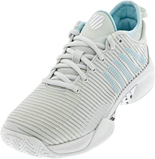 K-Swiss Women's Hypercourt Supreme Tennis Shoe (Barely Blue/White/Blue Glow, 7.5)