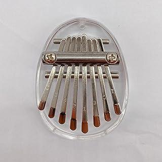 Mini fortepian z 8 kluczami przenośny drewniany kryształ kalimba muzyczny kciuk fortepian ze smyczą, dziecięca kieszonka ś...