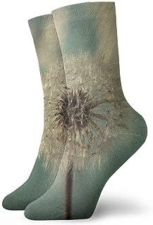 tyui7, Calcetines de compresión antideslizantes florales de diente de león Calcetines deportivos acogedores de 30 cm para hombres, mujeres y niños