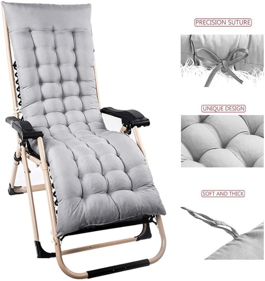 Kussen Patio Tuin Ligstoel fauteuil Lounge Dikke Pad Outdoor Zithoes D5/22 (Kleur: Blauw) Jzx-n (Kleur: Blauw) Grijs