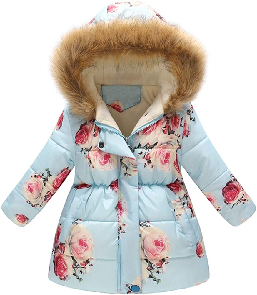 Max 56% OFF Children's Winter Coat Max 57% OFF Hooded Jacket Warm Printed Floral Padded