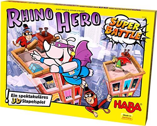 Haba 302808 - Juego de construcción Rhino Hero - Super Battle