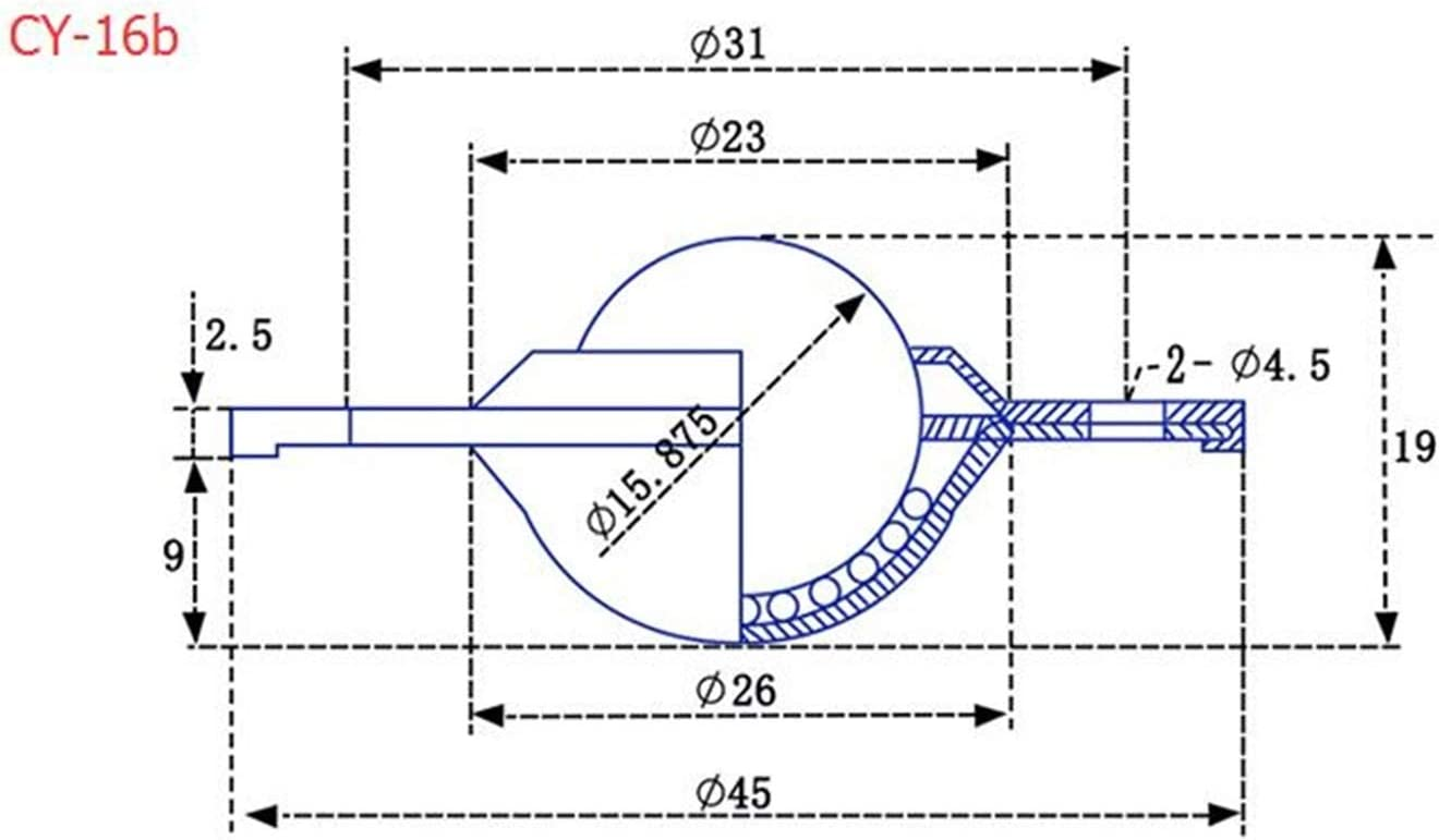 VXB Brand Japan MJC-20CS-EWH 5mm to 6.35mm Jaw-Type Flexible Coupling Coupling Bore 2 Diameter:6.35mm Coupling Length 30 Coupling Outer Diameter:20