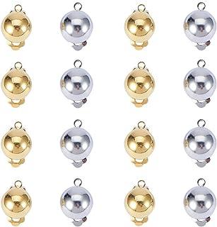 Orecchini a gancio Argento sterling 925 ganci orecchini con sfera e avvolgimenti Ganci per pesci a filo ipoallergenico per orologeria per la creazione di gioielli fai-da-te