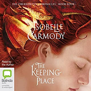 The Keeping Place     The Obernewtyn Chronicles, Book 4              By:                                                                                                                                 Isobelle Carmody                               Narrated by:                                                                                                                                 Isobelle Carmody                      Length: 22 hrs and 10 mins     76 ratings     Overall 4.8