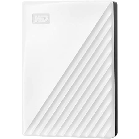 WD ポータブルHDD 5TB USB3.0 ホワイト My Passport 暗号化 パスワード保護 外付けハードディスク / 3年保証 WDBPKJ0050BWT-WESN