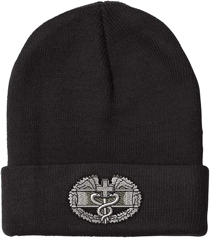 Speedy Limited price Pros Beanies for OFFicial Men Badge Winter Embroidery Medic Combat