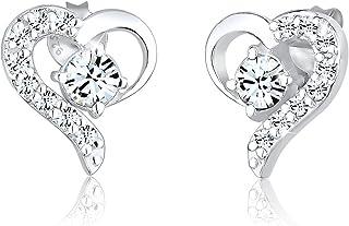 Elli Earrings Heart crystal 925 Sterling Silver