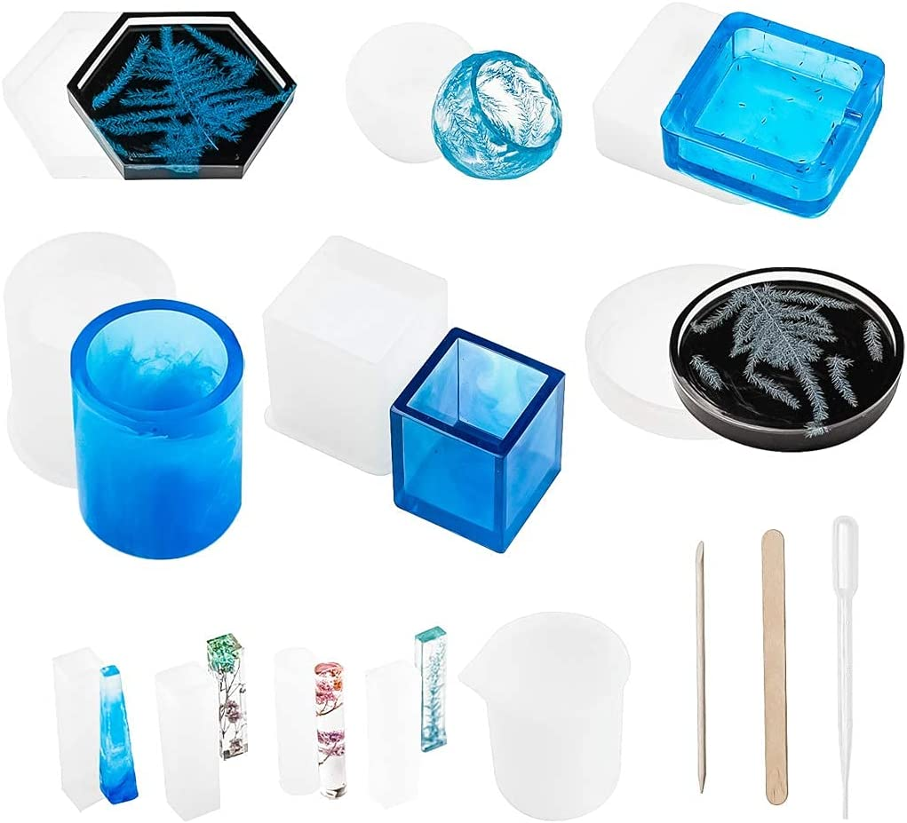 Resin Molds Silicone 41 Epoxy Branded goods Pcs Regular store Casting Cup