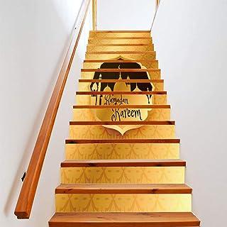 Escaliers Stickers Nouvelle décoration de fête musulmane Escaliers Escaliers Creative Stickers muraux