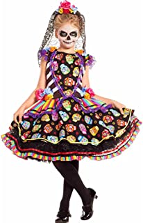 Sugar Skull Senorita Kids Costume