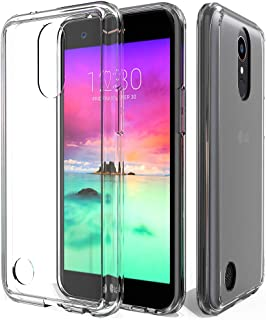 ShinyMax LG K20 Plus Case Heavy Duty Transparent Soft Silicone Protective Cover Hybrid Shockproof Drop Absorption Slim Case for LG K20 V LG Harmony LG K20 LG Grace 4G LTE Phone Clear