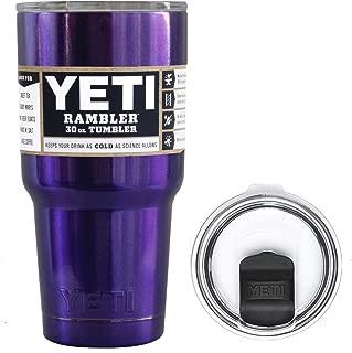 YETI Coolers 30 Ounce (30oz) (30 oz) Custom Rambler Tumbler Cup Mug Bundle with New Magslider Lid (Glitter Purple Sparkle)