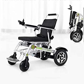 BIYADI Intelligent electric wheelchair disabled persons full one-button automatic folding lightweight aluminum body / 20A-...