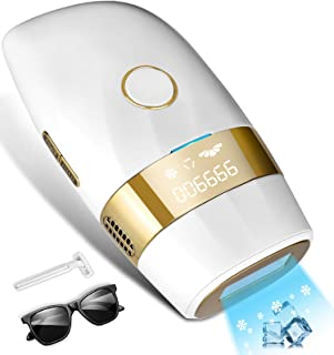 Hair Removal for Women and Men Permanent Painless Laser Hair Remover Upgraded to 999,900 Flashes with Ice Cool, At Home Ha...