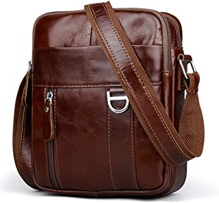 Leather Shoulder Messenger Bag,Crossbody for Men,Business Handbag,Pack Wallet Phone Purse