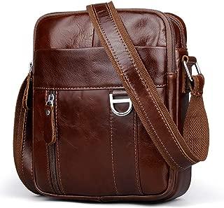 Leather Shoulder Messenger Bag,Crossbody for Men,Business Handbag,Pack Wallet Phone Purse